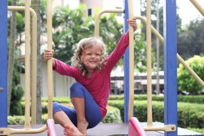 Little Miss working hard at her home playground in Penang