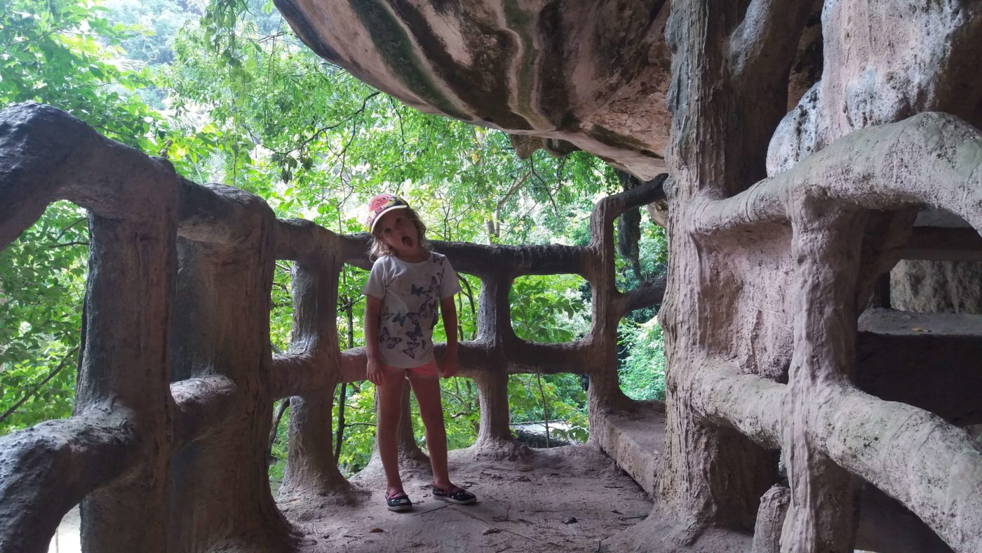 Little Miss in river ride caves, Krabi Town, Thailand