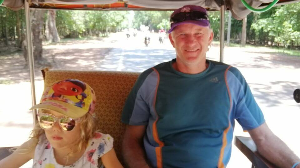 One week in Siem Reap with kids-Ayla and Colin Tuk Tuk