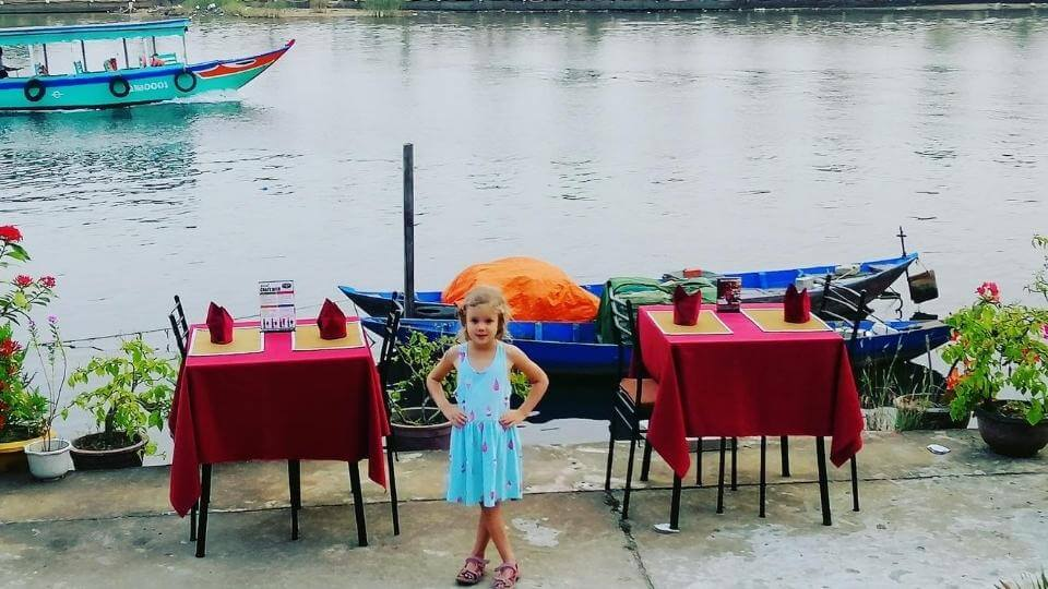 Things to do in Hoi An with kids-riverfront walking and dining-Ayla