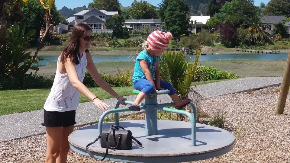 Things to do in Gisborne-Botanical gardens playground by the river-Claire and Ayla