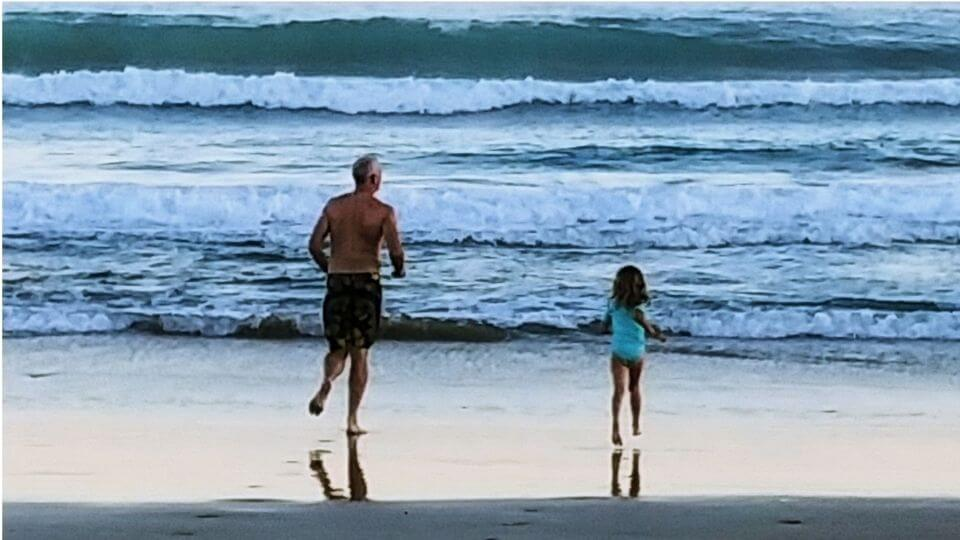 Intentional living-outdoor lifestyle-family time at the beach-Colin and Ayla