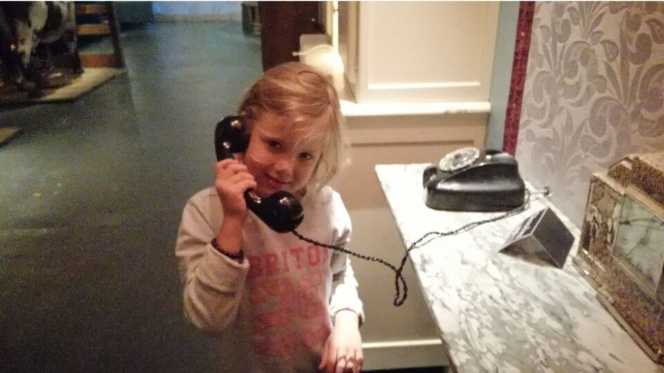 Things to do in Poitou Charentes-Le Cormenier Museum-Ayla on old telephone