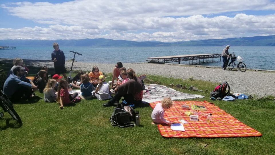 Things to do in Ohrid-enjoy the lakefront pebble beaches-workdschoolers pebble painting meetup at the beach